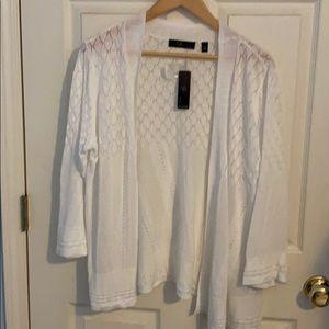 NWT White Knit Cardigan